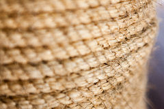 Thick rope closeup in the day Stock Photography