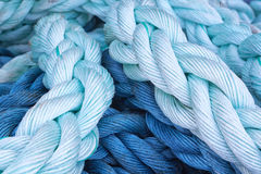 Thick rope marine close-up. Stock Photo