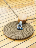 Thick Rope On Wood Floor Royalty Free Stock Photo