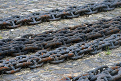 Thick rusty chain Stock Photo