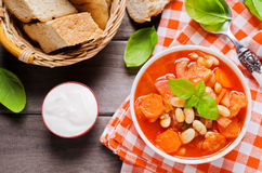 Thick soup with beans Stock Images