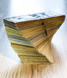 Thick stack of US cash Stock Image