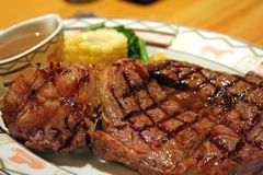 Thick steak Royalty Free Stock Images