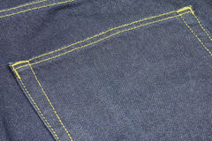 Thick stitched jeans fabric Stock Images