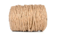 Thick string roll. String roll on isolated background Stock Photography
