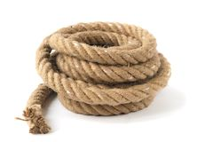 Thick strong rope Royalty Free Stock Photo