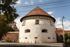 Thick tower in Sibiu Royalty Free Stock Photos