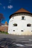Thick Tower in Sibiu, Transylvania, Romania Stock Photos