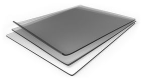 Thick transparent silicone rubber sheets Stock Images