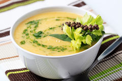 Thick vegetable soup Stock Photo