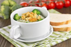 Thick vegetable soup with broccoli Stock Image