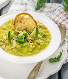 Thick vegetable soup puree with Brussels sprouts Stock Image