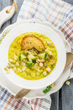Thick vegetable soup puree with Brussels sprouts Stock Images