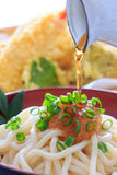 Thick white noodles with grated radish Royalty Free Stock Photo