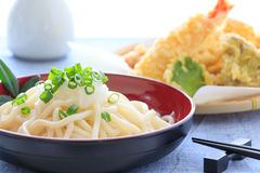 Thick white noodles with grated radish Royalty Free Stock Photography