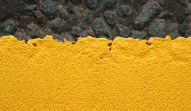 Thick yellow paint. Texture Royalty Free Stock Photography