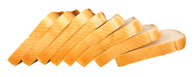 Thickly Sliced White Bread Loaf Stock Image