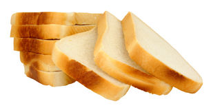 Thickly Sliced White Bread Loaf Stock Photos