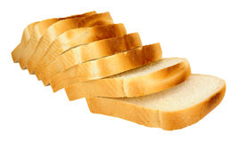 Thickly Sliced White Bread Loaf Stock Photo