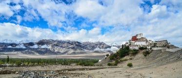 Thicksay kloster, Leh, Ladakh, Indien Arkivbilder