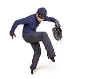 Thief. And walk on tiptoe Stock Images