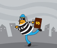 Thief in action Royalty Free Stock Photos