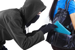 Thief in action Stock Photos