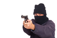 Thief Aim a Gun Stock Photos