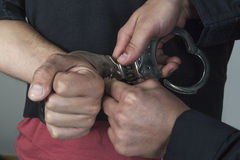 Thief arrested Stock Photos