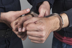 Thief arrested Royalty Free Stock Photo