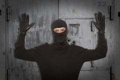 Thief with balaclava Royalty Free Stock Photos