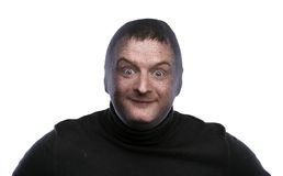 Thief in balaclava Stock Images