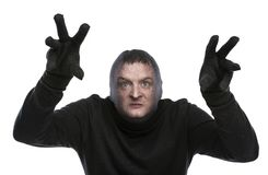 Thief in balaclava Royalty Free Stock Photography
