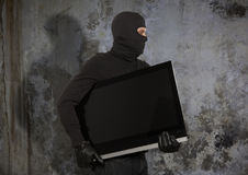 Thief with balaclava Royalty Free Stock Images