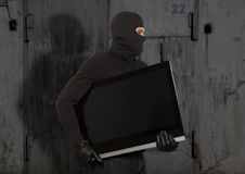 Thief with balaclava Royalty Free Stock Image