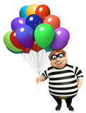 Thief with Balloon Stock Image
