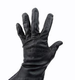 Thief with black glove Royalty Free Stock Photo
