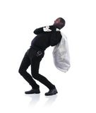 Thief in black mask Royalty Free Stock Images