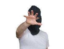 Thief in black mask Royalty Free Stock Image