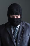 Thief in black mask Royalty Free Stock Photography