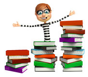 Thief with Book stack Stock Images