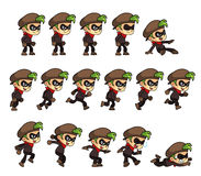 Thief Boy Game Sprites Stock Photography