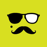 Thief or burglar with old style mustache, sunglasses vector. This graphic icon also represents robber with mole, mugger, crook or criminal Royalty Free Stock Photography