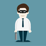 Thief in business man Royalty Free Stock Image