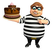 Thief with Cake. 3d rendered illustration of Thief with Cake Royalty Free Stock Photography
