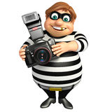 Thief with Camera. 3d rendered illustration of Thief with Camera Royalty Free Stock Photography