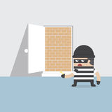 A thief cannot get through the safety door. VECTOR, EPS10 Stock Image