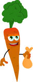 Thief carrot holding a sack Royalty Free Stock Images