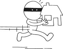 Thief Carrying House Stock Photos