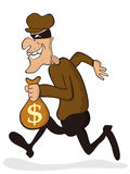 Thief. Cartoon character of thief isolated from white background Royalty Free Stock Photography
